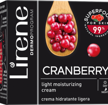 Cranberry – Light moisturizing cream  with cranberry water for day and night care