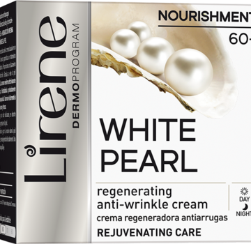 Regenerating anti-wrinkle cream with white pearl extract for day and night 60+