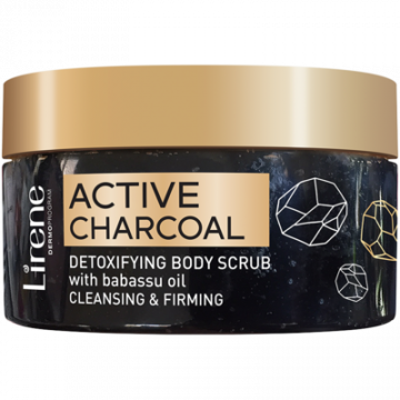 Active charcoal detoxifying body scrub